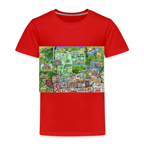 Staycation Live map - Kids' Premium T-Shirt