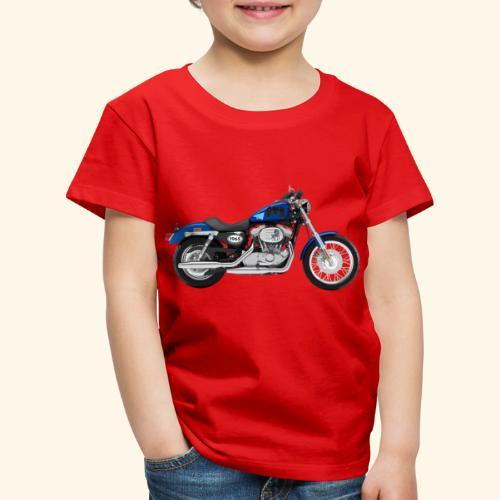 Altes Motorrad mit ein paar Freshen Sticker - Kinder Premium T-Shirt