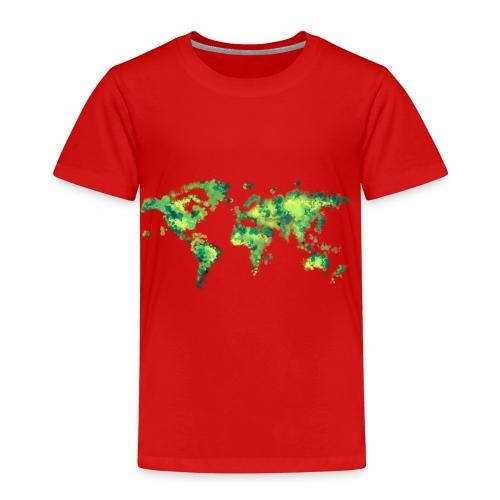 Weltkarte grün - Kinder Premium T-Shirt