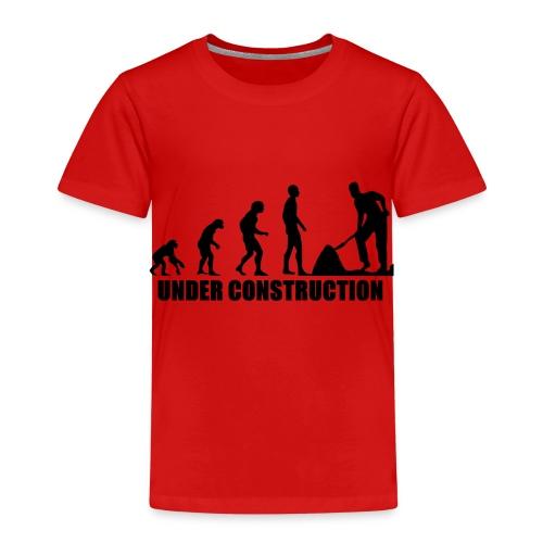 Evolution Baustelle von Affen zum Bauarbeiter - Kinder Premium T-Shirt