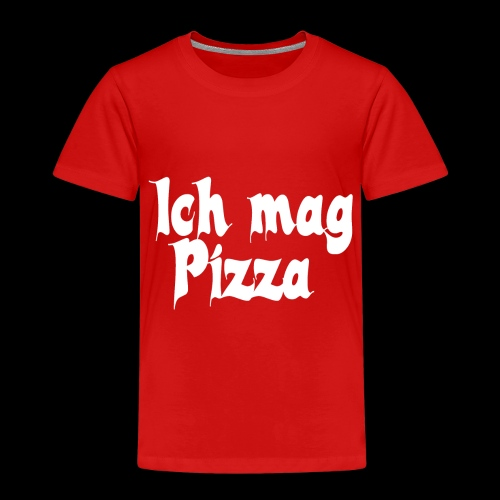 Pizza Logo white - Kinder Premium T-Shirt