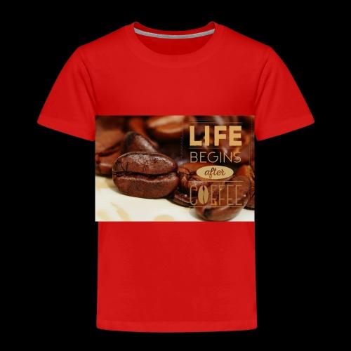 Das Leben beginnt nach dem Kaffee - Kinder Premium T-Shirt