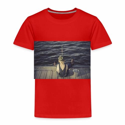 kleines Kind angelt - Kinder Premium T-Shirt