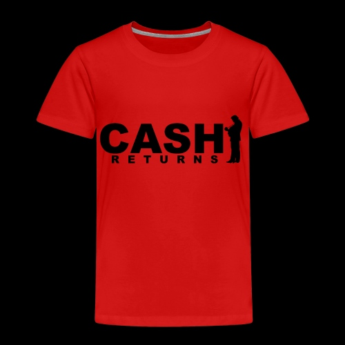 CASH RETURNS Logo (Black) - Kids' Premium T-Shirt