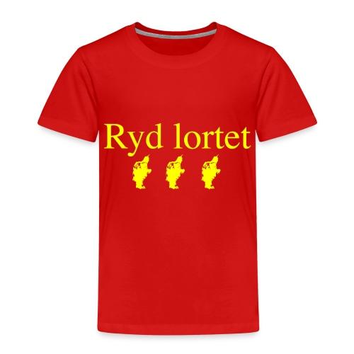 Ryd lortet - Børnekollektion - Børne premium T-shirt