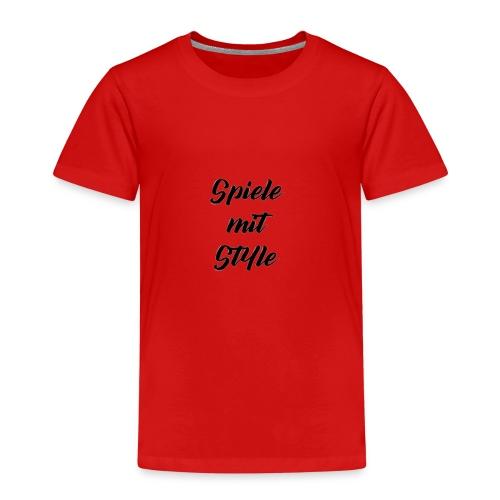 Spiele mit Style Schriftzug - Kinder Premium T-Shirt