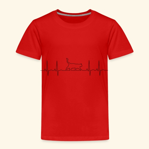 Katzen EKG - Kinder Premium T-Shirt