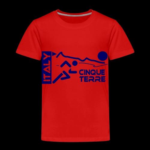 Italy Cinque Terre 2018 blue - Kinder Premium T-Shirt