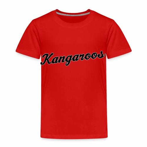kangaroos font schwarz - Kinder Premium T-Shirt