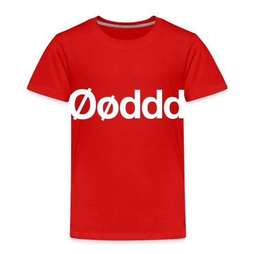 Øøddd (hvid skrift) - Børne premium T-shirt
