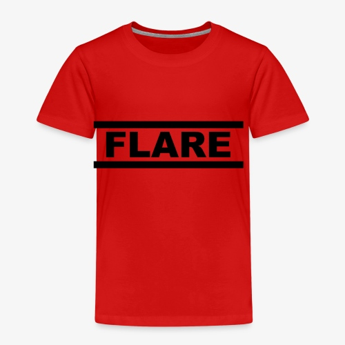 White T-Shirt - Black logo - FLARE - Kinderen Premium T-shirt