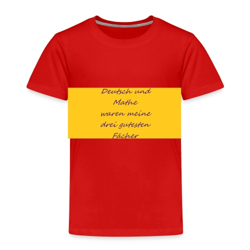 Deutsch und Mathe - Kinder Premium T-Shirt