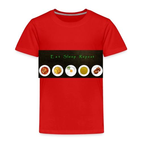 Essen, Schlafen und wiederholen - Kinder Premium T-Shirt