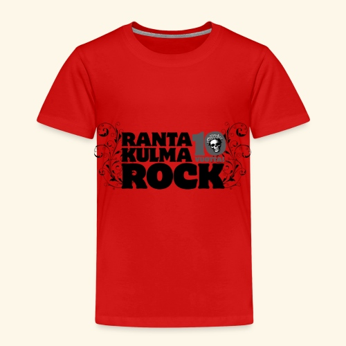 Rantakulmarock 10-vuotta - Lasten premium t-paita