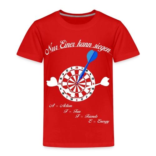 Nur einer kann siegen - Dart Champion - Kinder Premium T-Shirt