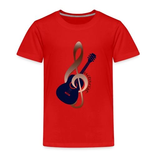 Gitarre im Notenschlüssel- für Musiker Shirt - Kinder Premium T-Shirt