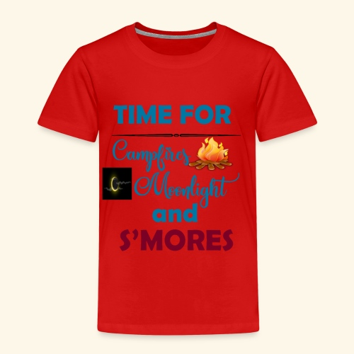 Time for camping and S'mores - Kids' Premium T-Shirt