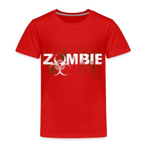 Zombie mit BioHazard Symbol Weiße Schrift - Kinder Premium T-Shirt