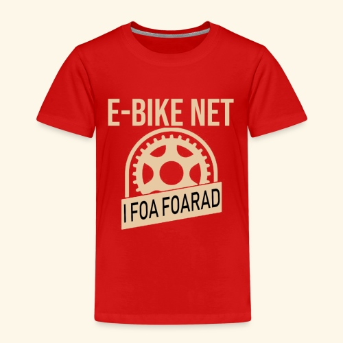 E-Bike Net - I Foar Foarad - Ich fahre Fahrrad - Kinder Premium T-Shirt