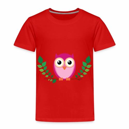 Kleine rosa Eule - Kinder Premium T-Shirt