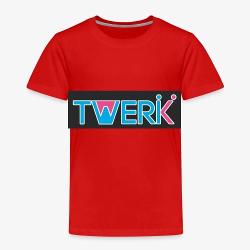 Logo TWERK con W riempita di Rosa - Maglietta Premium per bambini