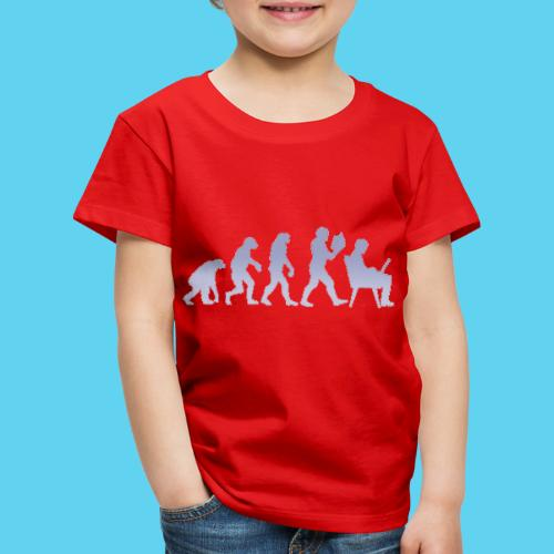 Evolution des wissens Blue - Kinder Premium T-Shirt