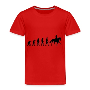 Evolution Of A Dressage Rider - Kids' Premium T-Shirt