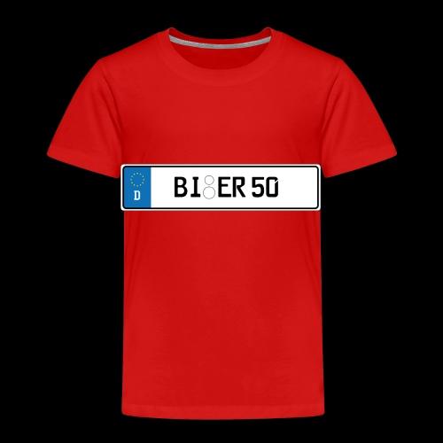 Kennzeichen Bier - Kinder Premium T-Shirt
