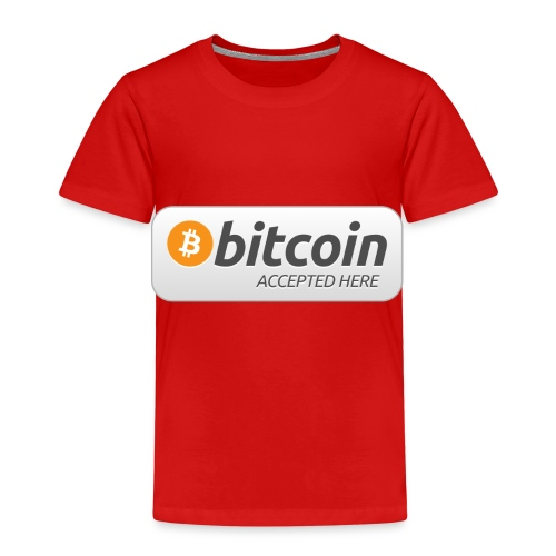 BTC Accepted Here - Kinder Premium T-Shirt