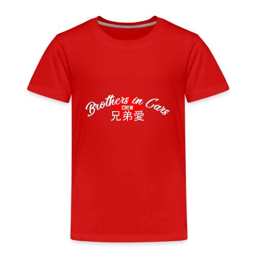 Brothers In Cars CREW brand White - Maglietta Premium per bambini