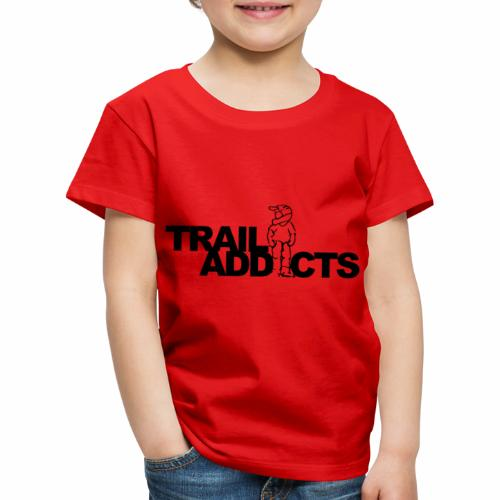 Trail addicts ZWART - Camiseta premium niño