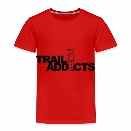 Trail addicts ZWART - Camiseta premium niño