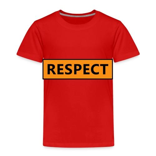 Respect (Rispetto) - Maglietta Premium per bambini