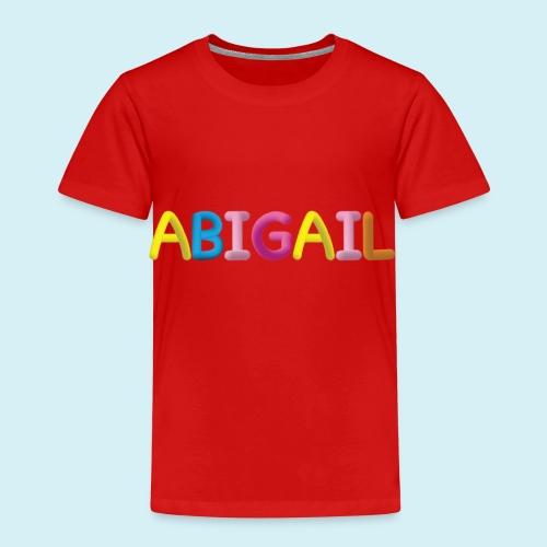 Fluffy Abigail Letter Name - Kids' Premium T-Shirt