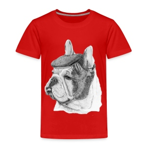French Bulldog w/beret - Børne premium T-shirt