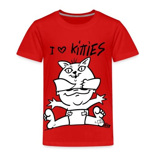 baby i love kitties - Kinderen Premium T-shirt