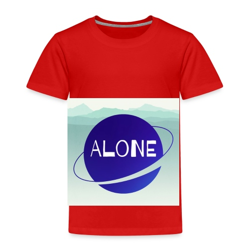 Alone planet with background - Kids' Premium T-Shirt