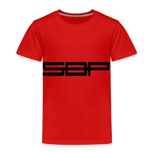 T-shirt white chest emblem black - Kids' Premium T-Shirt