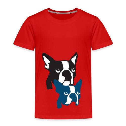 Boston Terrier Knochentiger - Kinder Premium T-Shirt