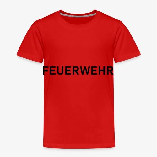 Feuerwehr Schriftzug - Kinder Premium T-Shirt