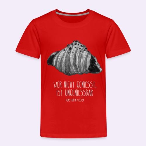 Wer nicht geniesst, ist ungeniessbar WEISS - Kinder Premium T-Shirt