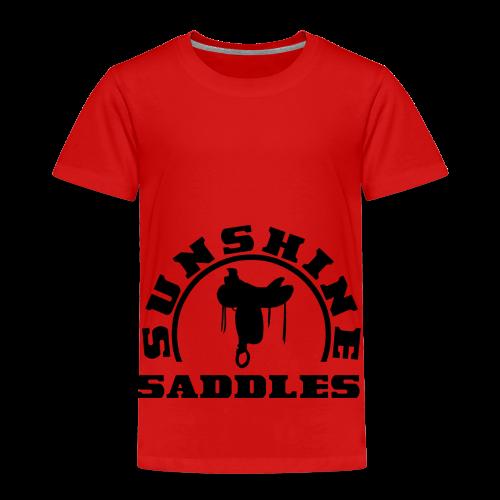 LogoSunshineSaddlesSchwarzTransparent - Kinder Premium T-Shirt