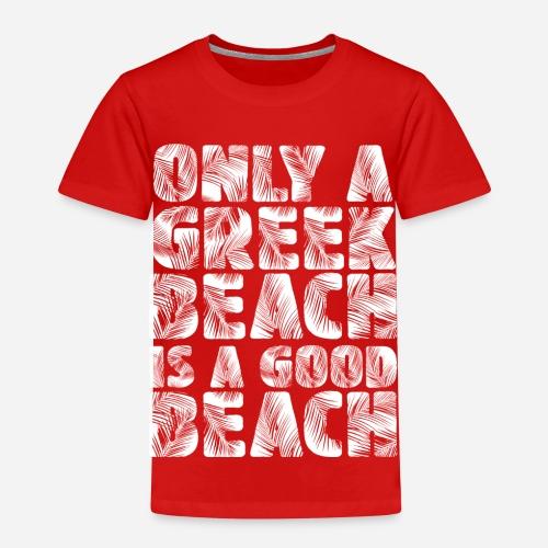 BEACH white - Kinder Premium T-Shirt