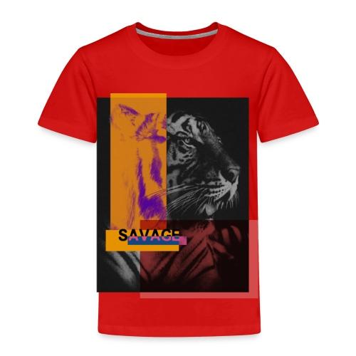 Tigre con deformación de colores - Camiseta premium niño