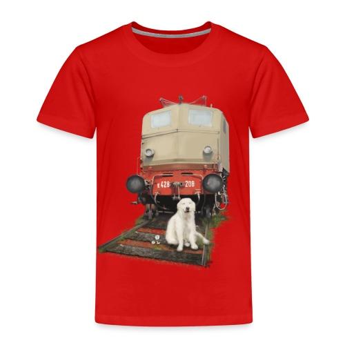 Golden Retriever with Train - Maglietta Premium per bambini