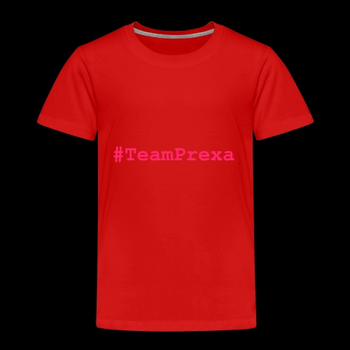 Pink #TeamPrexa LOGO - Kinder Premium T-Shirt