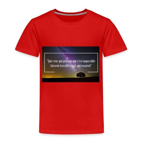 Que ceux qui pensent - T-shirt Premium Enfant
