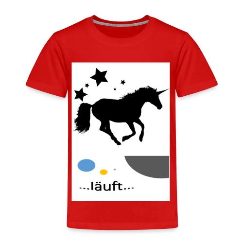 Pferd läuft - Kinder Premium T-Shirt