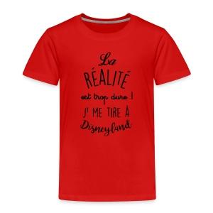 sticker citation la realite est trop dure ambiance - T-shirt Premium Enfant