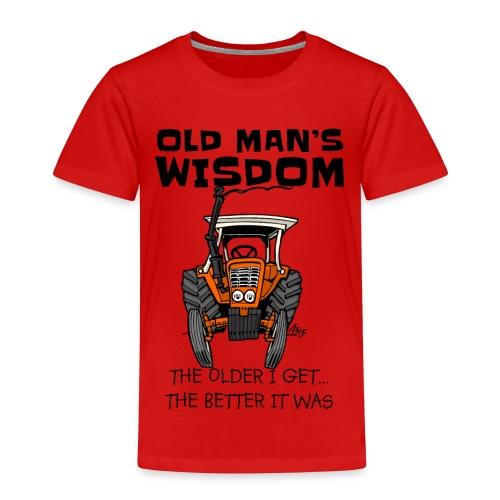 0093 oldmanswisdom belarus - Kinderen Premium T-shirt
